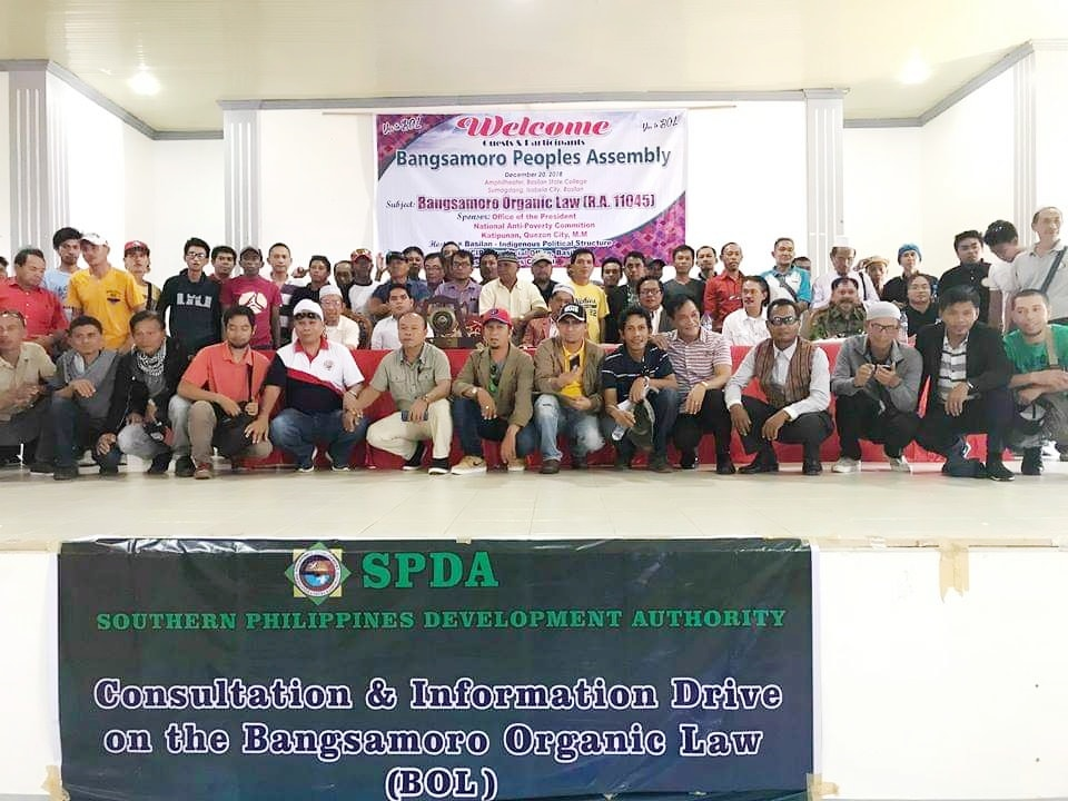 SPDA supports ratification of the BOL – Southern Philippines